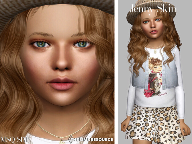 Sims 4 Jenny Skin Children by MSQSIMS at TSR