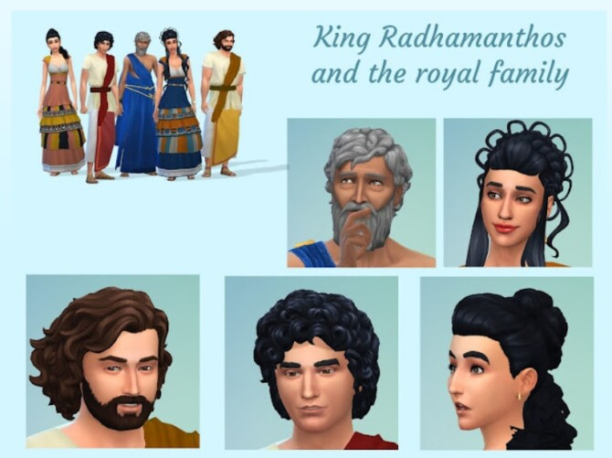Sims 4 King Radhamanthos and the royal family at KyriaT's Sims 4 World