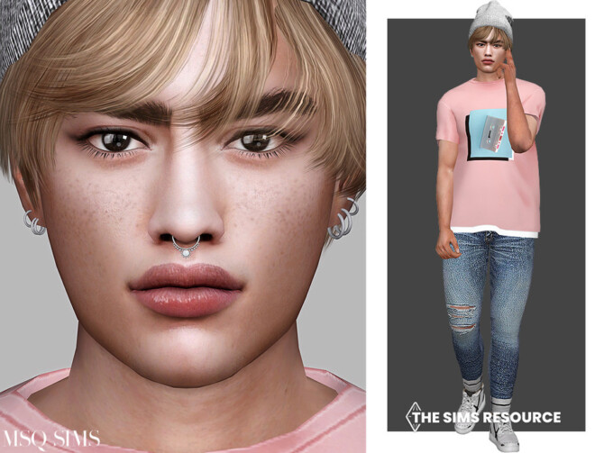 Sims 4 Dominic Sargent by MSQSIMS at TSR