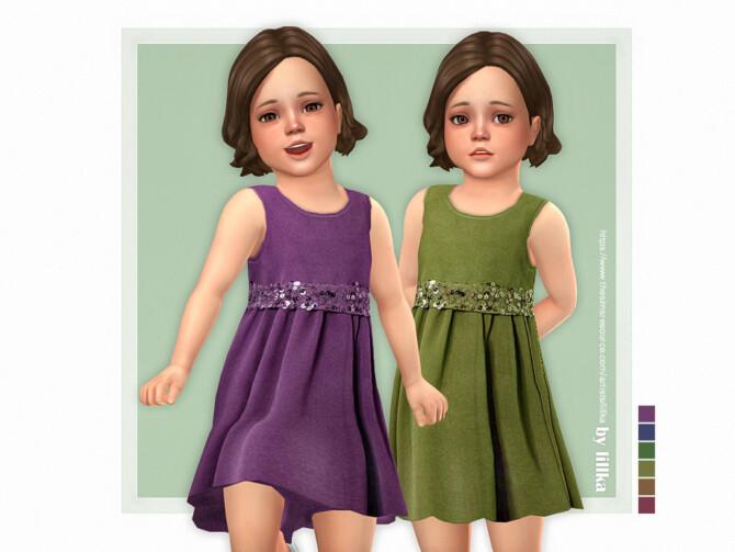 Sims 4 Davina Dress by lillka at TSR
