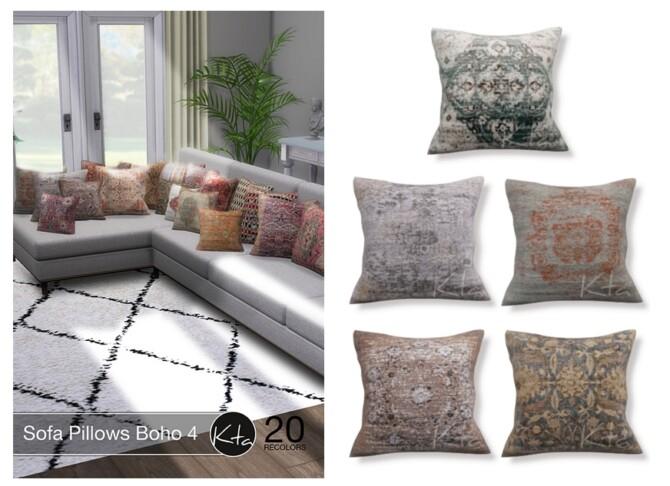 Sims 4 Sofa Pillows Boho 4 at Ktasims