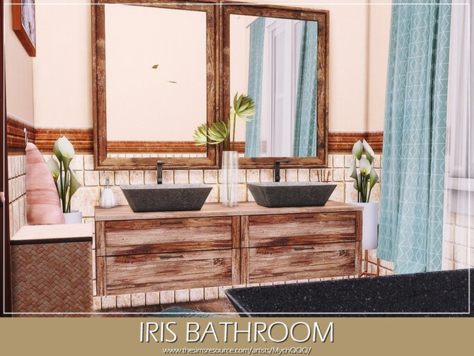 Sims 4 Iris Bathroom by MychQQQ at TSR
