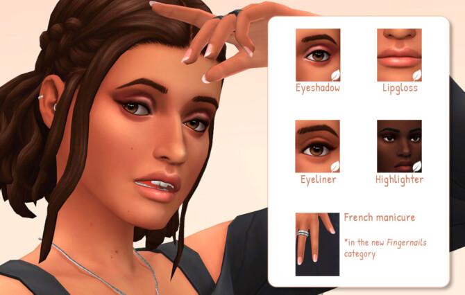 Sims 4 Naturalia make up + nails at Frenchie Sim