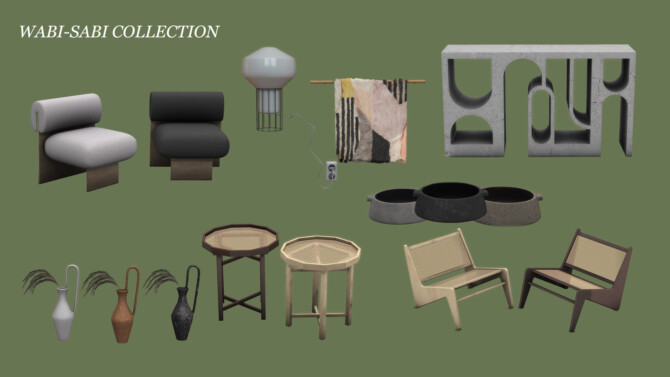 Sims 4 WabiSabi Collection 2 at Leo Sims
