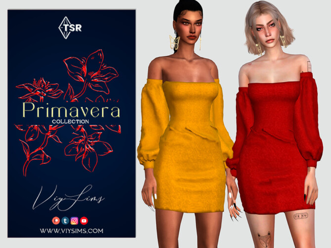 Sims 4 PRIMAVERA Collection DRESS [VII] by Viy Sims at TSR