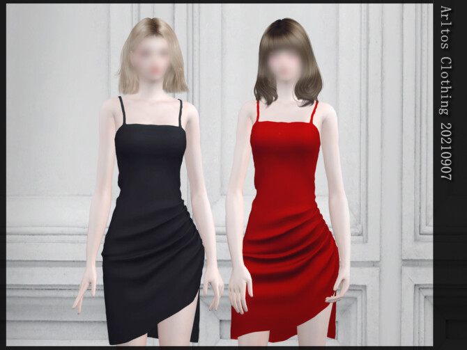 Sims 4 Evening dress 20210907 by Arltos at TSR