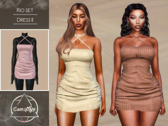 Sims 4 Rio Dresses II by Camuflaje at TSR