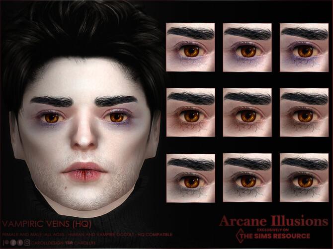 Sims 4 Arcane Illusions Vampiric Veins by Caroll91 at TSR