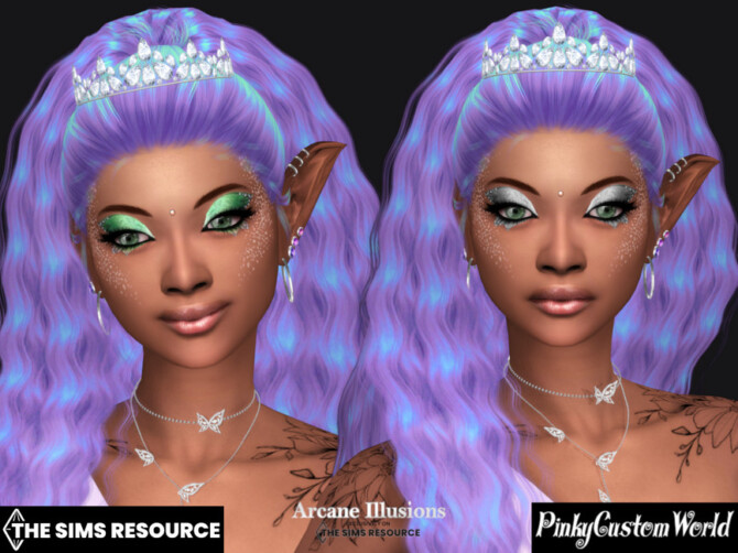 Sims 4 Arcane Illusions   Fairy Eyeshadow by PinkyCustomWorld at TSR