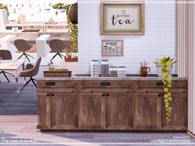 Sims 4 Honey Kitchen by Moniamay72 at TSR