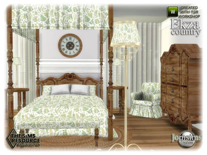 Sims 4 Ekza bedroom by jomsims at TSR