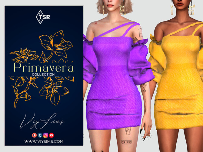 Sims 4 PRIMAVERA Collection DRESS [X] by Viy Sims at TSR