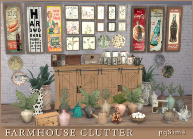 Sims 4 FarmHouse Clutter at pqSims4