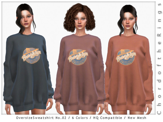 Sims 4 Oversize Sweatshirt No.02 by ChordoftheRings at TSR