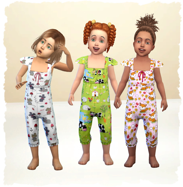 Sims 4 Toddler Overall Country Life by Chalipo at All 4 Sims