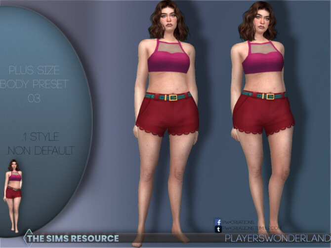 Sims 4 Plus Size Body Preset 03 by PlayersWonderland at TSR