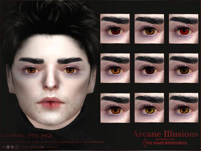 Sims 4 Arcane Illusions Vampiric Eyes by Caroll91 at TSR