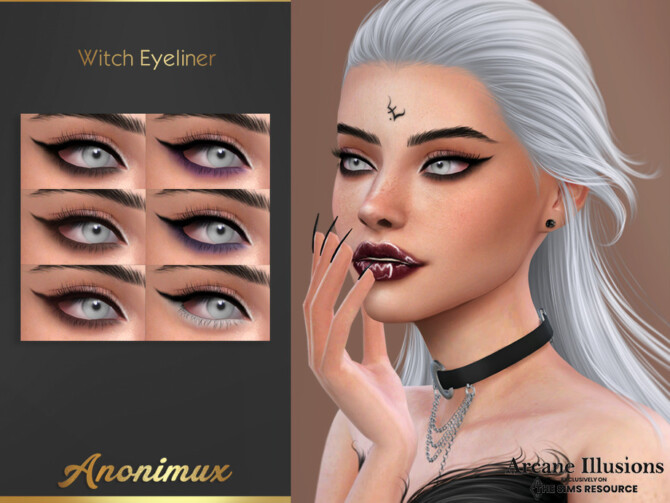 Sims 4 Arcane Illusions   Witch Eyeliner by Anonimux Simmer at TSR