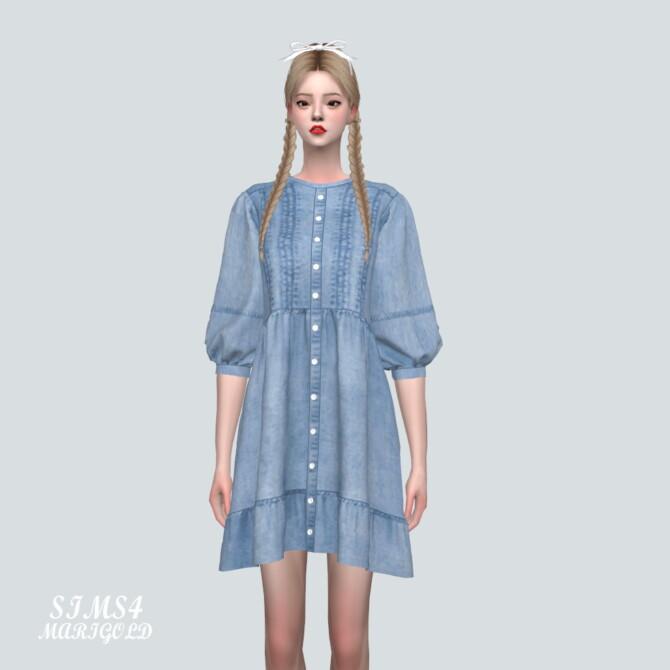 Sims 4 Denim Mini Dress 91 at Marigold