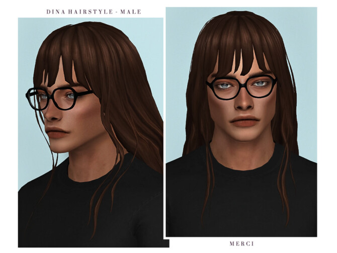 Sims 4 Dina Hairstyle Male by Merci at TSR