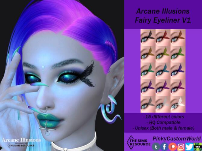 Sims 4 Arcane Illusions   Fairy Eyeliner V1 by PinkyCustomWorld at TSR