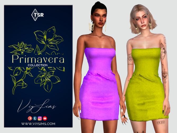 Sims 4 PRIMAVERA Collection DRESS VIII by Viy Sims at TSR