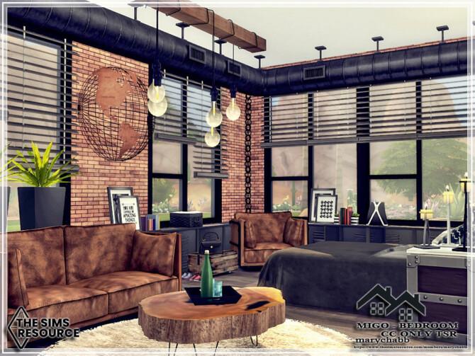 Sims 4 MIGO Bedroom by marychabb at TSR