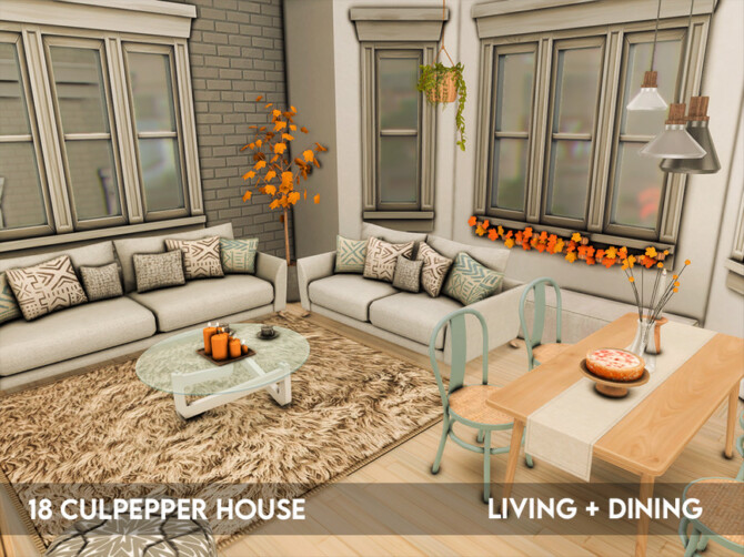 Sims 4 18 Culpepper House   Living and Dining  by xogerardine at TSR