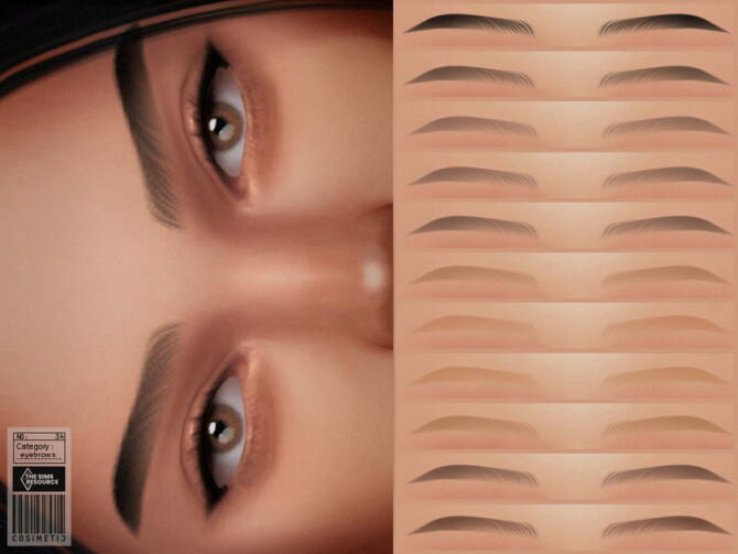 Sims 4 Angela Eyebrows NO 34 by cosimetic at TSR