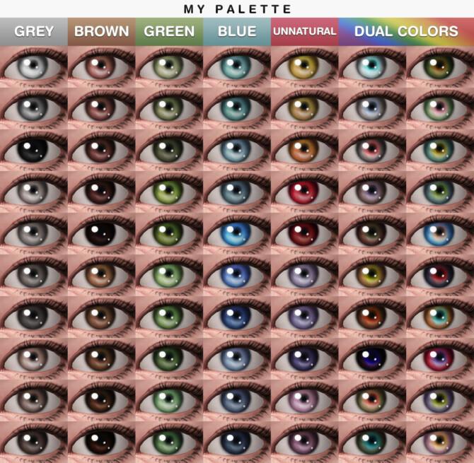 Sims 4 TREASURE Maxis Match Eyes at Praline Sims