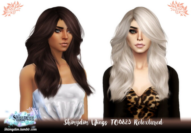Sims 4 Wings TO0823 Hair Retexture at Shimydim Sims