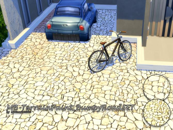 Sims 4 Terrain Paint Bumpy Road SET by matomibotaki at TSR
