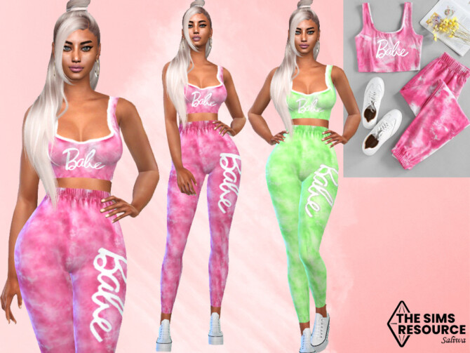 Sims 4 Colorful Casual Sport Outfit by Saliwa at TSR