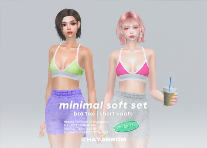 Sims 4 MINIMAL SOFT SET at Hayanbom