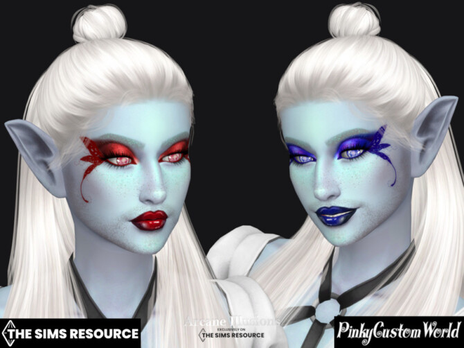 Sims 4 Arcane Illusions   Fairy Eyeliner V2 by PinkyCustomWorld at TSR