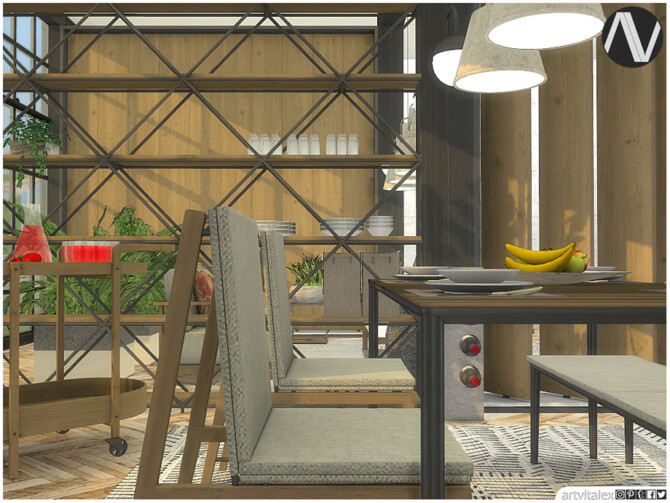 Sims 4 Uniondale Outdoor Dining by ArtVitalex at TSR