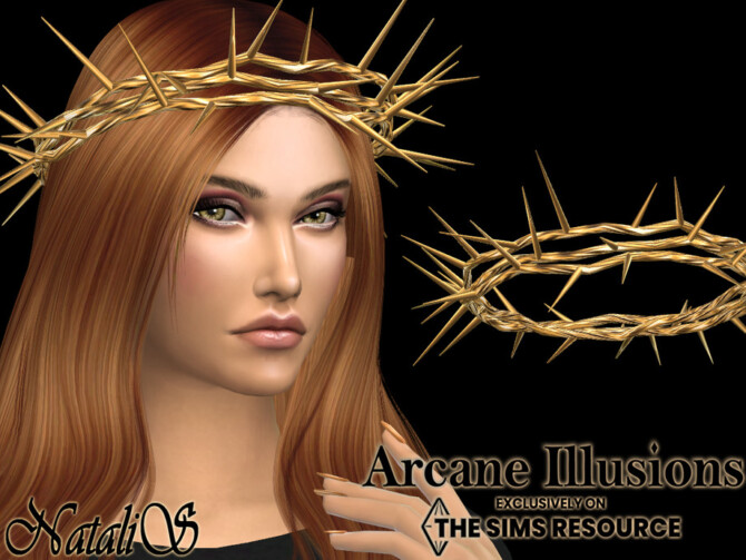 Sims 4 Arcane Illusions Crown of thorns set by NataliS at TSR