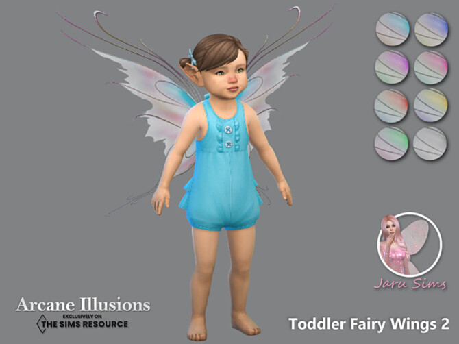 Sims 4 Arcane Illusions   Toddler Fairy Wings 2 by Jaru Sims at TSR