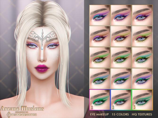 Sims 4 [ARCANE ILLUSION] EYE MAKEUP by Jul Haos at TSR