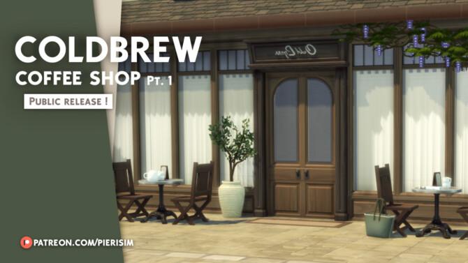 Sims 4 COLDBREW Coffeeshop Build Set at Pierisim