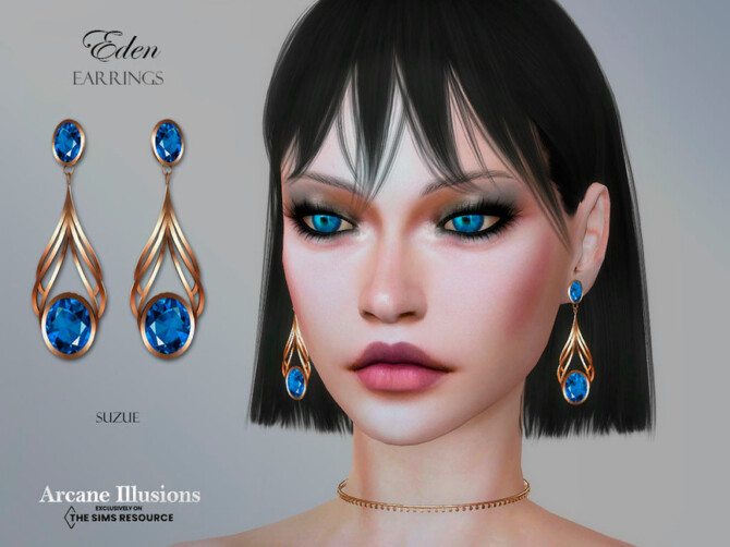 Sims 4 Arcane Illusions Eden Earrings by Suzue at TSR