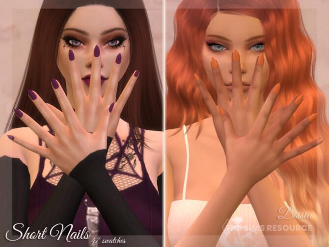 Sims 4 Short Nails by Dissia at TSR