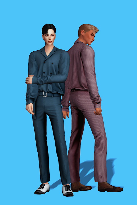 Sims 4 Double Button Formal Set at Gorilla