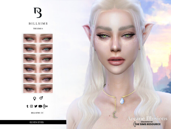 Sims 4 Arcane Illusions   Elven Eyes by Bill Sims at TSR