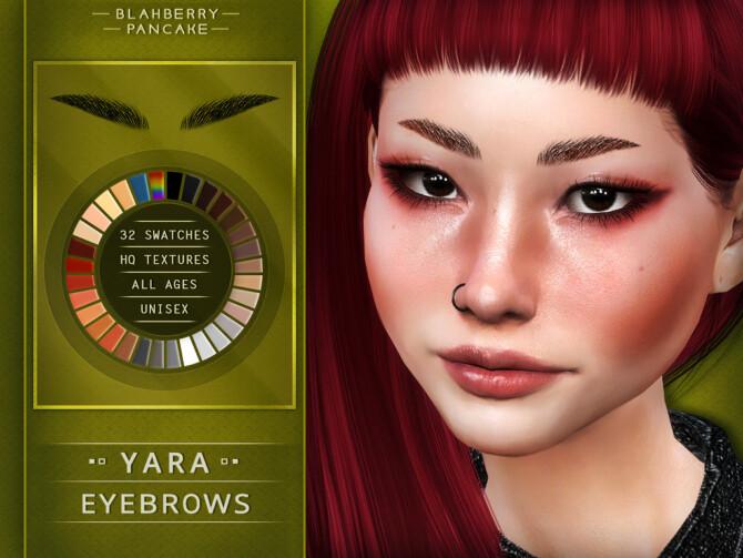 Sims 4 EYEBROWS YANA & YARA at Blahberry Pancake
