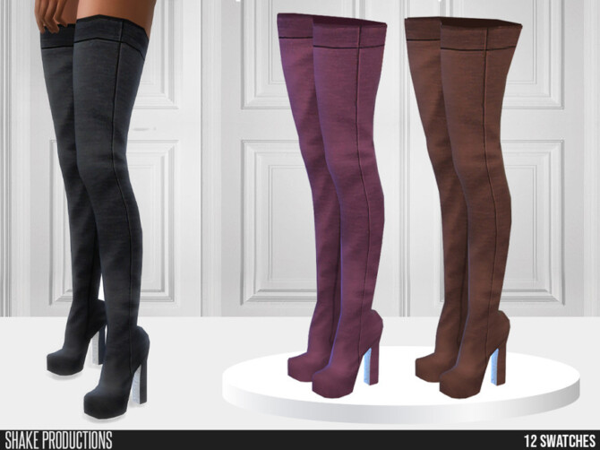Sims 4 766   High Heel Boots by ShakeProductions at TSR