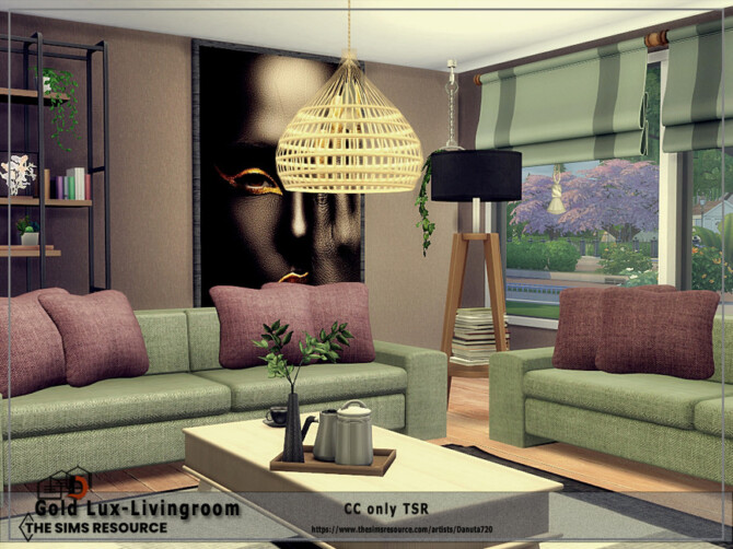 Sims 4 Gold Lux Livingroom by Danuta720 at TSR