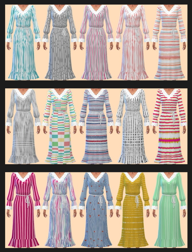 Sims 4 Cottage Living Dress 2 & 3 Recolors at Annett's Sims 4 Welt