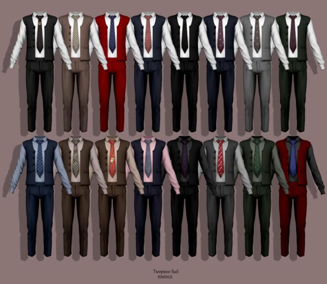 Sims 4 Twopiece Suit at RIMINGs