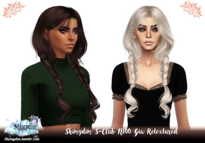 Sims 4 S Club N100 Gia Hair Retexture at Shimydim Sims
